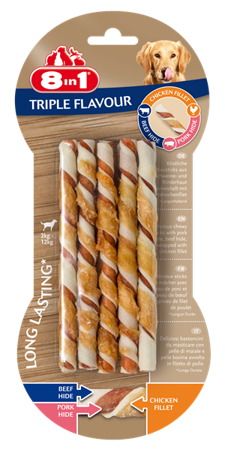 8in1 Triple Flavour Twisted Sticks 10 ks