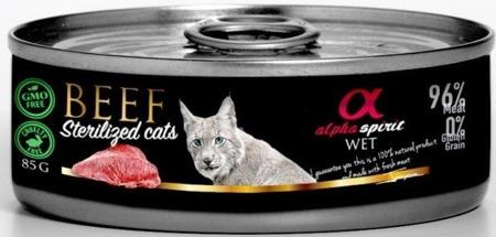 ALPHA SPIRIT Hovězí - sterilizované kočky 85g
