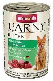 ANIMONDA Carny Kitten chuť: hovězí, kuřecí a králičí 400g