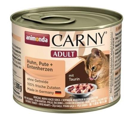 ANIMONDA Cat Carny Adult příchuť: kuřecí, krůtí a kachní srdce 200g