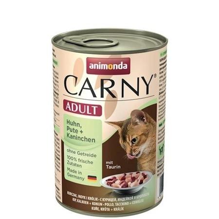 ANIMONDA Cat Carny Adult příchuť: kuřecí, krůtí, králičí 400g