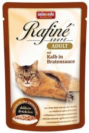 ANIMONDA Cat Rafine Soupe Adult telecí v omáčce 100g