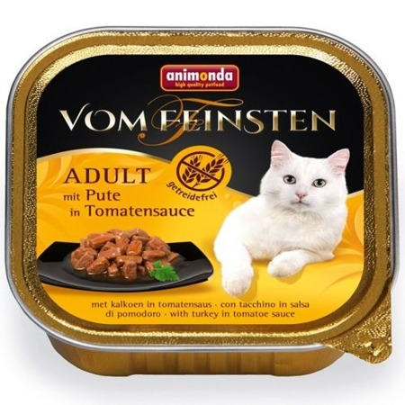 ANIMONDA Cat Vom Feinsten Adult NoGrain Krocan v rajčatové omáčce 100g