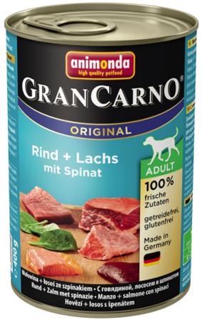 ANIMONDA GranCarno Adult Dog losos + špenát 400g