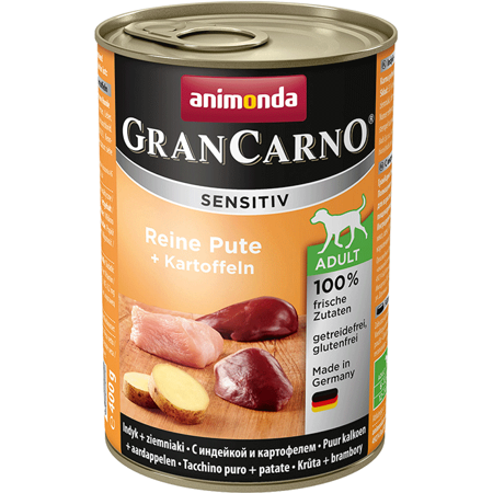 ANIMONDA GranCarno Sensitiv Adult Dog chuť: Krocan + brambory 400g