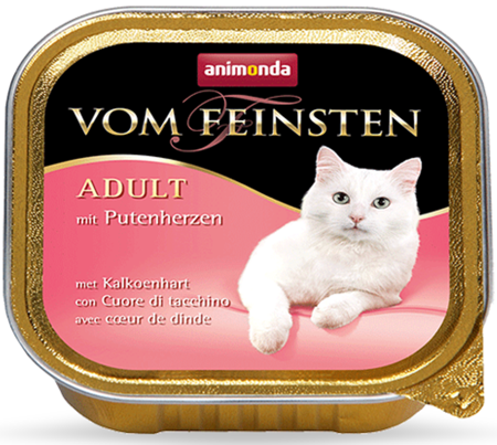 ANIMONDA Vom Feinsten ADULT - paštika s krůtími srdíčky pro kočky 100g