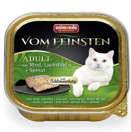 ANIMONDA Vom Feinsten Cat Adult s hovězím masem, lososem a špenátem 100g