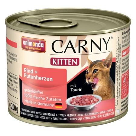 Animonda Carny Kitten hovězí/krůtí srdce 200g