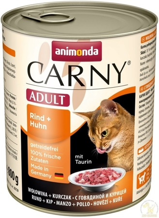 Animonda Cat Carny Adult příchuť: hovězí a kuřecí 800g