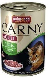 Animonda Cat Carny Adult příchuť: hovězí maso, krůta a králík 400g