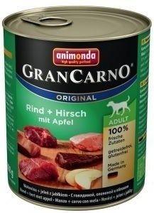 Animonda Dog konzerva GranCarno Original Adult jelení maso & jablka 800g