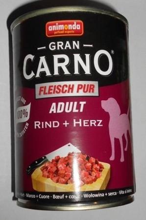 Animonda Gran Carno Adult konzerva hovězí/srdce 400 g